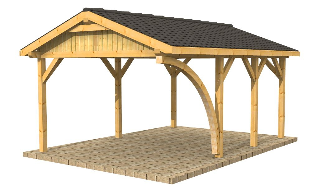 High quality timber buildings wooden carports shelters for Carport material list